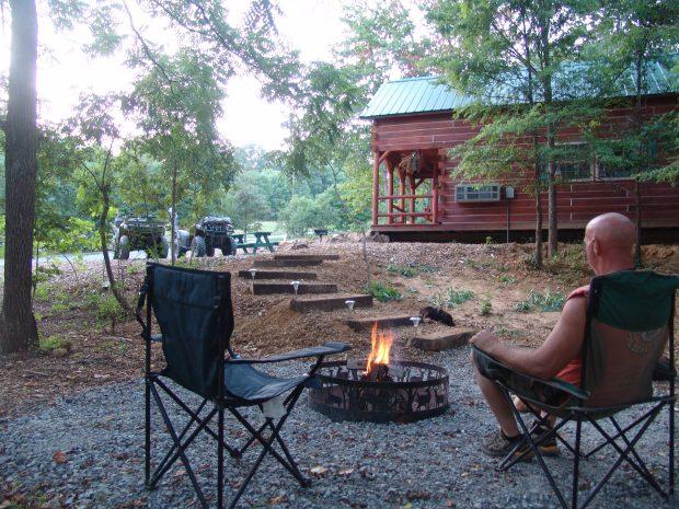 Camping in a Cabin
